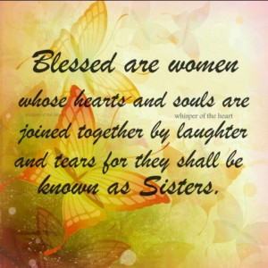 Blessed are women...