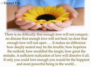 There is no difficulty that enough love will not