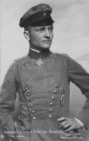 Manfred von Richthofen, a German pilot nicknamed