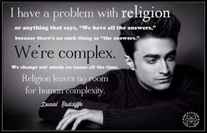 ... Quotes, Daniel Radcliff Quotes, Antitheism, Daniel Radcliffe Quotes