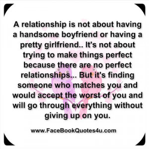 relationship is not about having a handsome boyfriend or