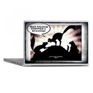 Halloween Coffee Cats Laptop Skins