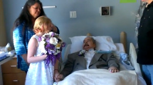 Dying dad attends his 10-year-old daughter's wedding