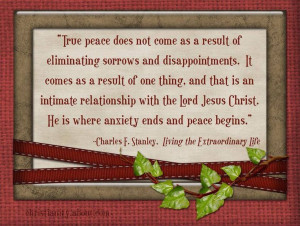 Charles Stanley....True meaning of RIP...for the living ~ Peace in ...