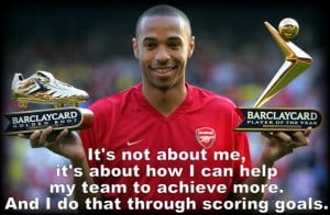 Thierry Henry succinctly explains his role in the team.