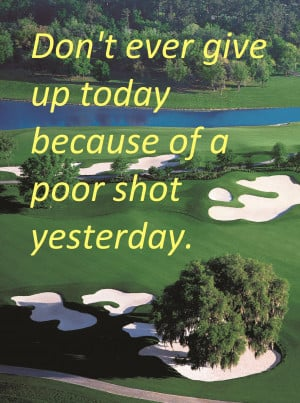 Don't Give Up Golf Image