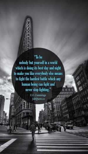 Cummings Quote