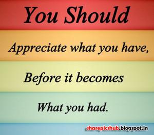 Appreciate Quote Wallpaper | Wise Quote in English Wallpaper