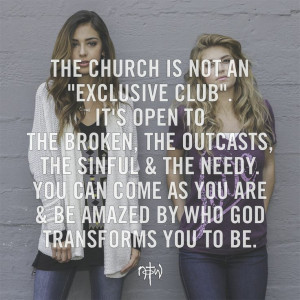 The church is not an