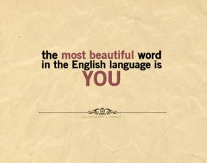 in the English language