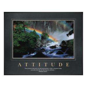 Attitude Rainbow Motivational Poster (734895)