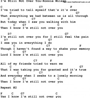 Download I'm Still Not Over You-Ronnie Milsap lyrics and chords as PDF ...