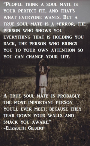 true soulmate is a mirror