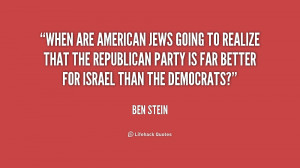 When are American Jews going to realize that the Republican Party is ...