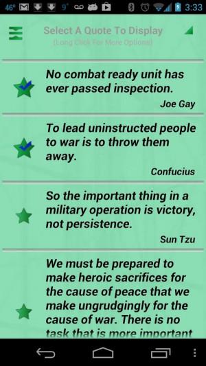 Military Quotes - screenshot