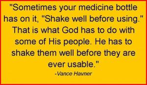 Vance Havner Quotes medicine bottle shake usable