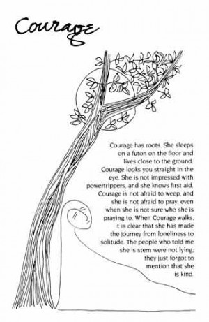 The Book of Qualities - Sample Page - Page 12, Courage
