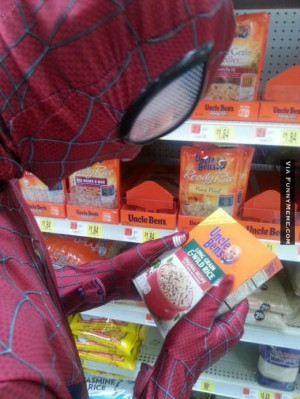 funny memes spiderman uncle bens rice