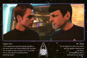 Star Trek Movie Kirk and Spock Quotes Poster Print Poster