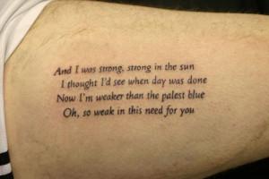 More Information on Poem tattoo