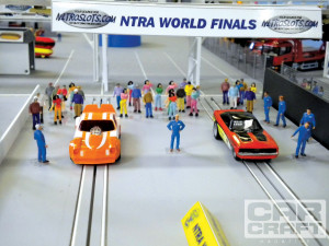 Slot Car Drag Racing Nostalgia Funny Car Class Finals