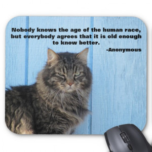 Grumpy Angel with Anonymous Quote Mousepads