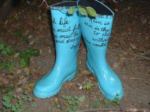 Make sure your rain gloves and rain boots fit properly. Poorly fitted ...
