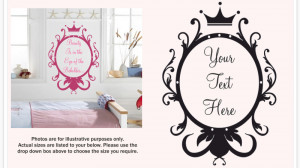 Mirror Mirror On The Wall Quotes Mirror style personalised wall