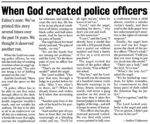 God created Police Officers