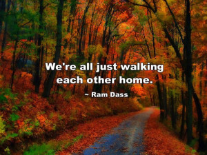 We're all just walking each other home. ~ Ram Dass