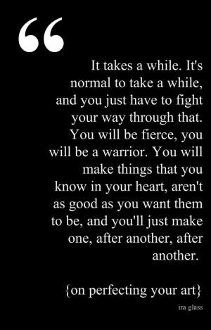 Ira glass writing quote.