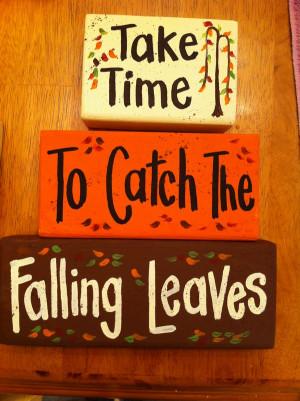 ... falling leaves sign blocks set of 3 stacking block signs measure 10