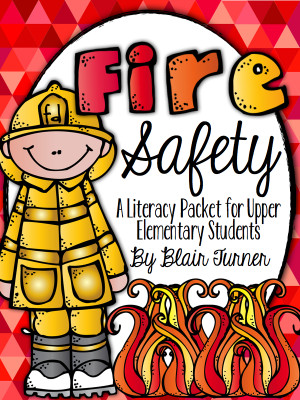 Fire Safety Literacy Packet {Fundraiser}