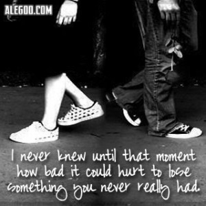 Losing something you never had - depression Photo