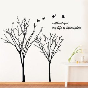 ... tree vine flower branch flying birds with quotes without you my life