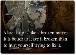 Broken Mirror Breakup Quote