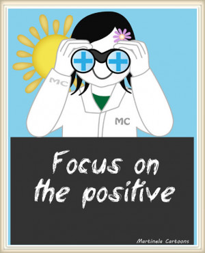 Inspirational quotes - Focus on the positive - Download and Print