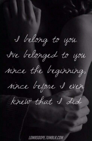 love it i belong to you