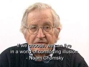 Noam chomsky quotes and sayings world illusion beautiful