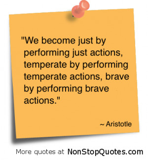 We Become Just by Performing by Performing Temperate Action
