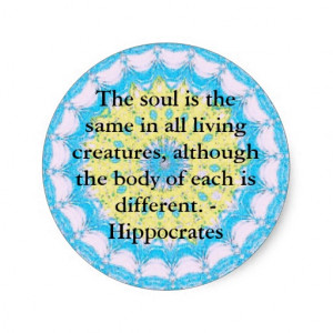 Hippocrates Animal Rights Quote Stickers