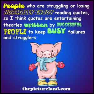 Funny Pig Picture With Sayings On People Who Read Quotes