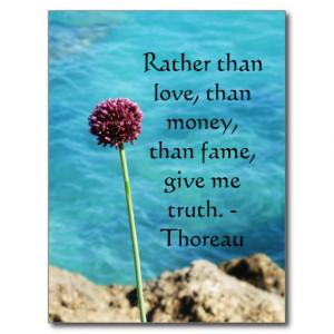 Henry David Thoreau inspirational TRUTH Quote Postcard