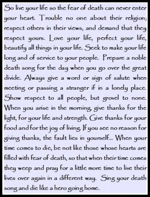 Act Of Valor Quotes Tecumseh