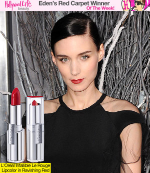 Rooney Mara's Matte Red Lips Lush Lashes Makes Her This Week's Red ...