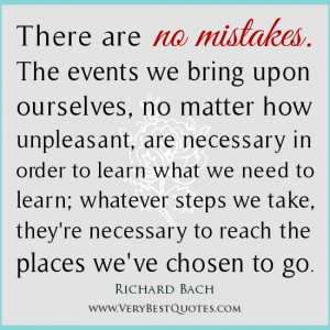 mistake quotes, Richard Bach Quotes, personal growth quotes