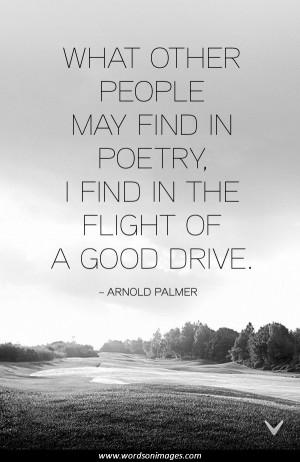 Arnold Palmer Golf Quotes