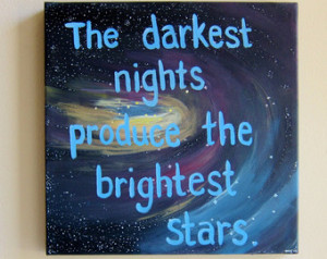ON SALE Inspirational Quotes on Can vas Quote Paintings The Darkest ...