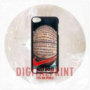 Nike Just Do It Basketball Quotes, For Apple, iPod 5 | DigitalPrint ...