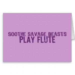 Savage Flute Greeting Card